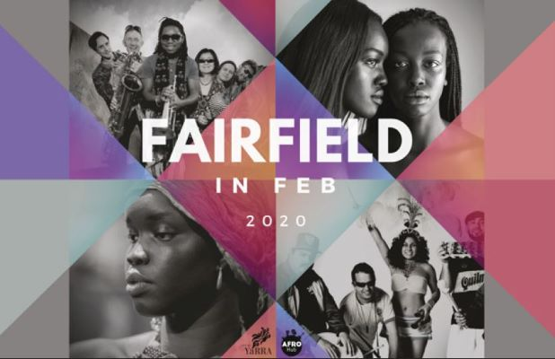Banner image illustrating the four Sunday events as part of Fairfield in Feb 2020