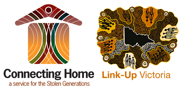 Connecting Home and Link Up Victoria logos